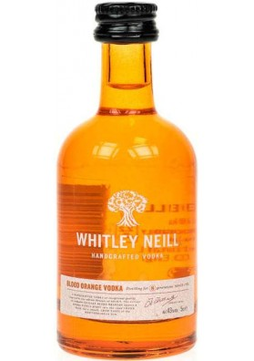 Whitley Neill Blood Orange Vodka 43%, 0,05L