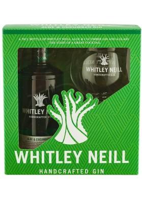 Whitley Neill Aloe & Cucumber gin gift box, 43%, 0,7l