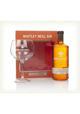Whitley Neill Blood Orange Gin gift box 43%, 0,05L