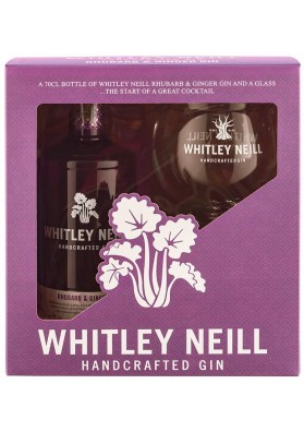 Whitley Neill Rhubarb & Ginger gin gift box, 43%, 0,7l