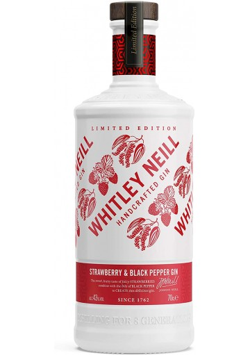 Whitley Neill Strawberry & Black Pepper gin ( Limited Edition )